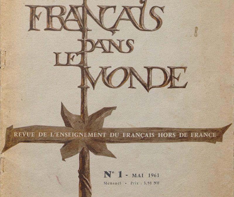 Le Français dans le monde 1